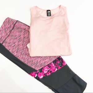 Avia workout tank and leggings size 2X